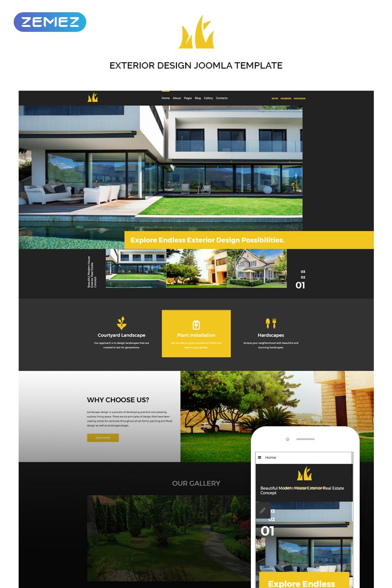 "Joomla Vorlage namens ""Sweet Home - Exterior Design"" #74355"
