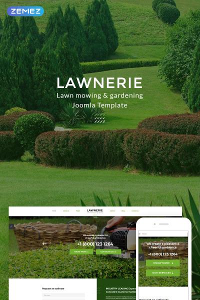 Lawnerie - Landscape Design Joomla Template #74378
