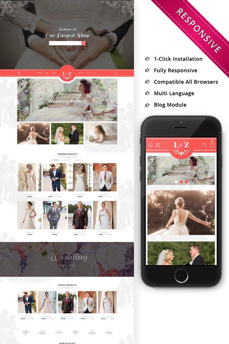 """L&Z Wedding Store - Responsive"" thème OpenCart adaptatif #74315"