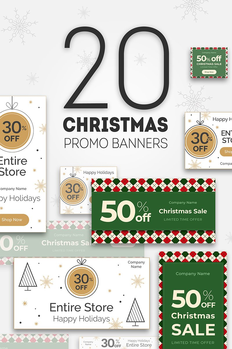 "Paquete ""20 Christmas Promo Banners"" #74361"