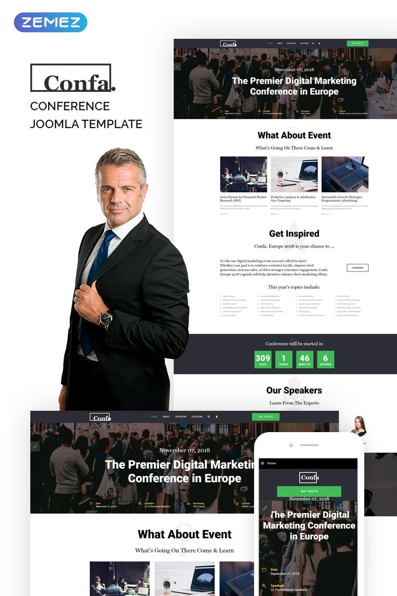 "Plantilla Joomla ""Confa - Event"" #74338"