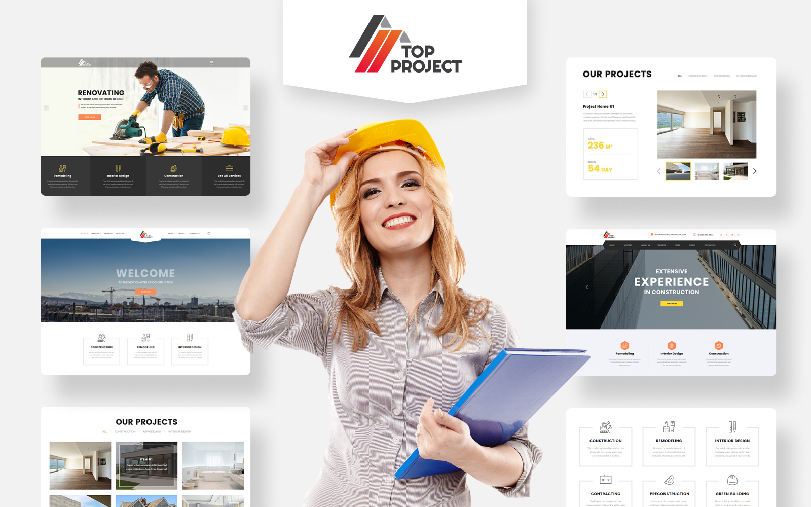 "Plantilla Web ""Top Project - Construction Company Multipurpose HTML"" #74319 - captura de pantalla"
