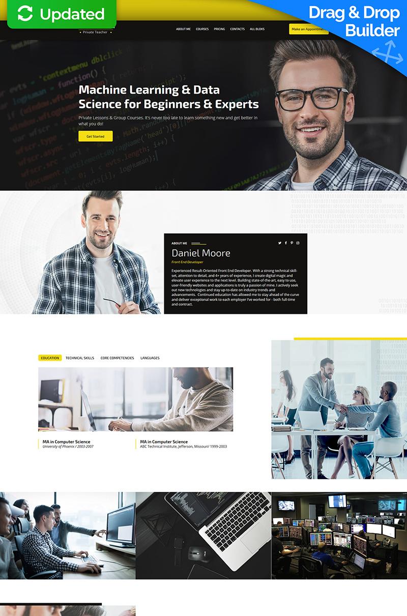 Private Teacher Templates de Landing Page №74364 - screenshot
