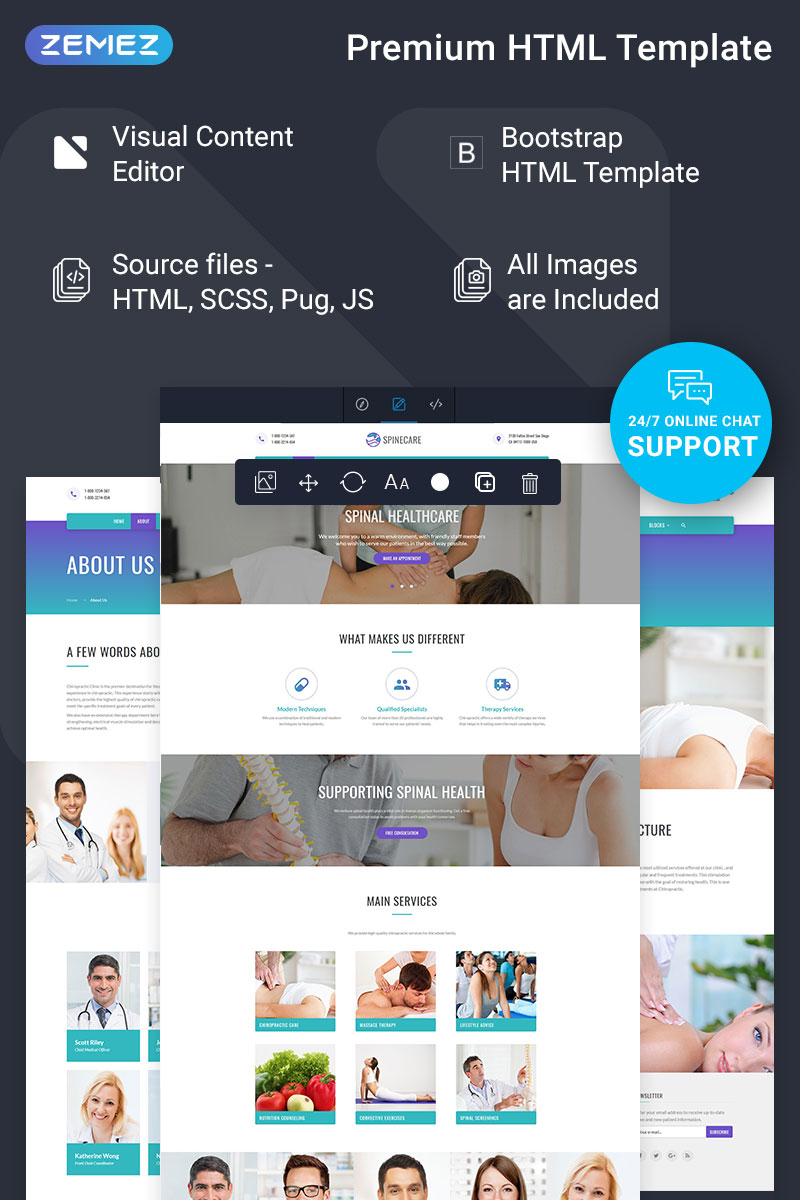 Responsive Spinecare - Medical Ready-to-Use Web Sitesi #74339