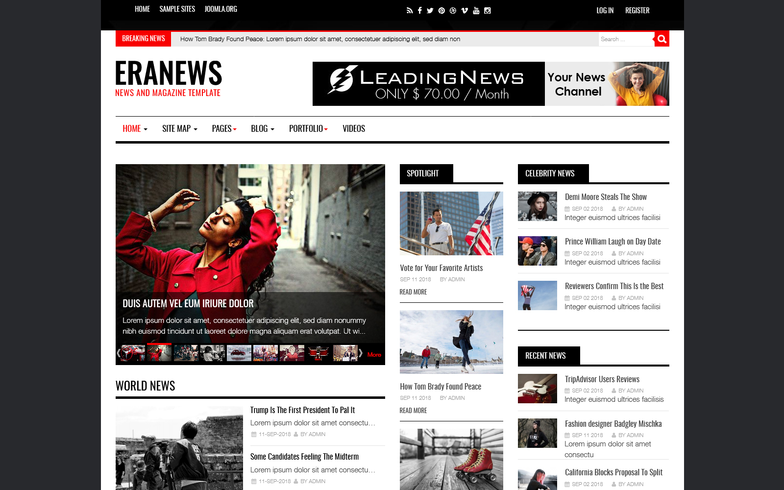 "Responzivní Joomla šablona ""Eranews News and Magazine"" #74344"