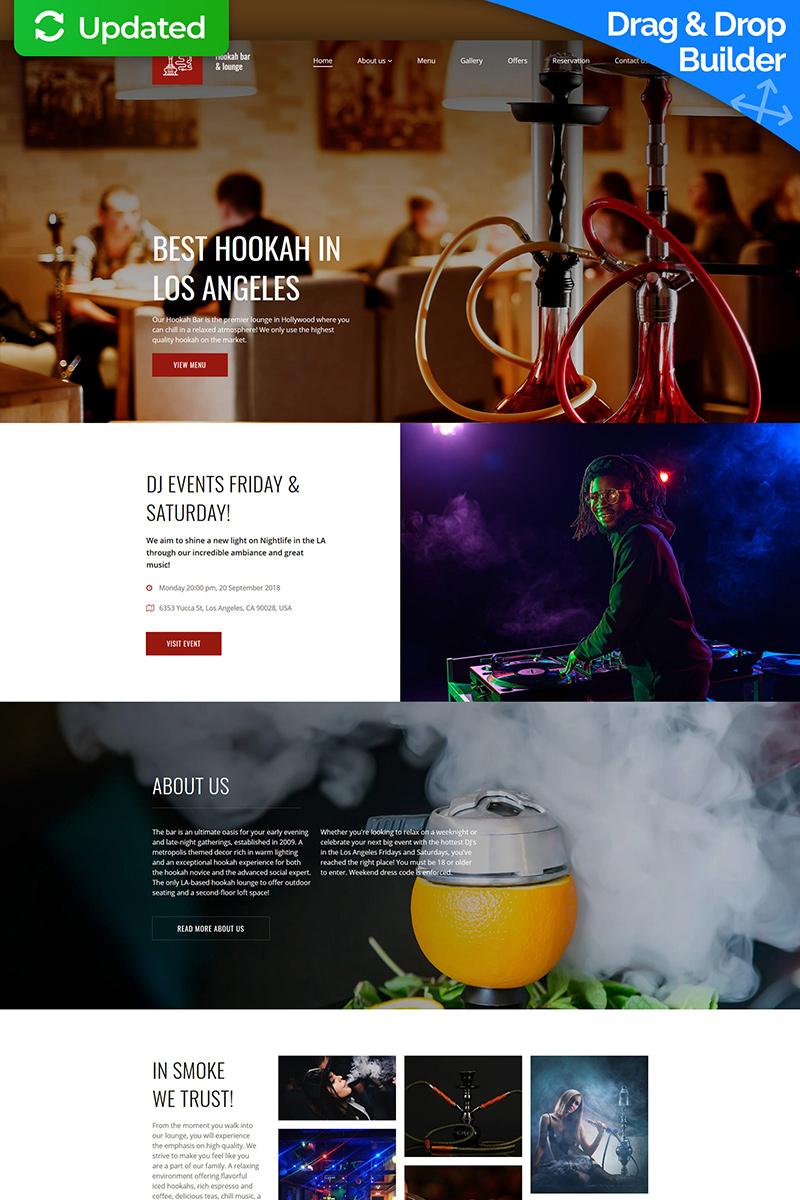 """Responzivní Moto CMS 3 šablona """"Hookah Bar & Lounge"""" #74314"""