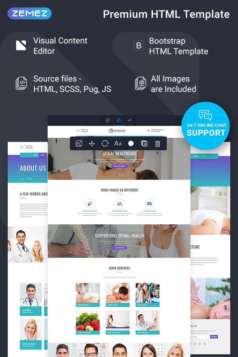 """Spinecare - Medical Ready-to-Use"" modèle web adaptatif #74339"