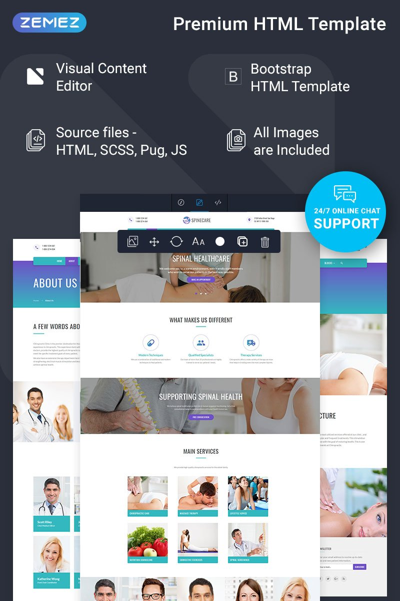 Spinecare - Medical Ready-to-Use Website Template - screenshot