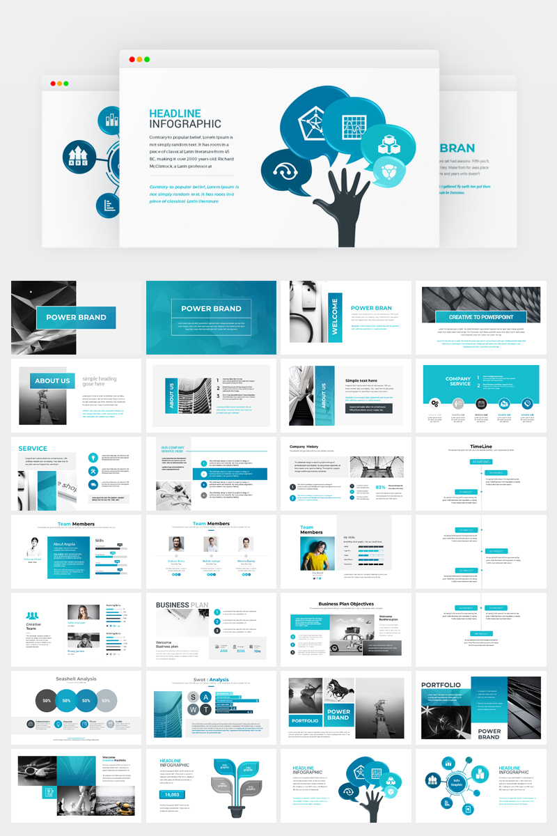 Szablon PowerPoint Business Presentation #74370