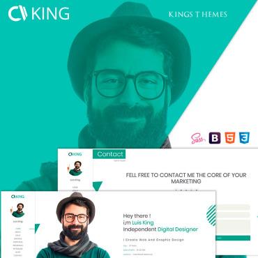 Preview image of King - vCard / CV / Resume / Portfolio