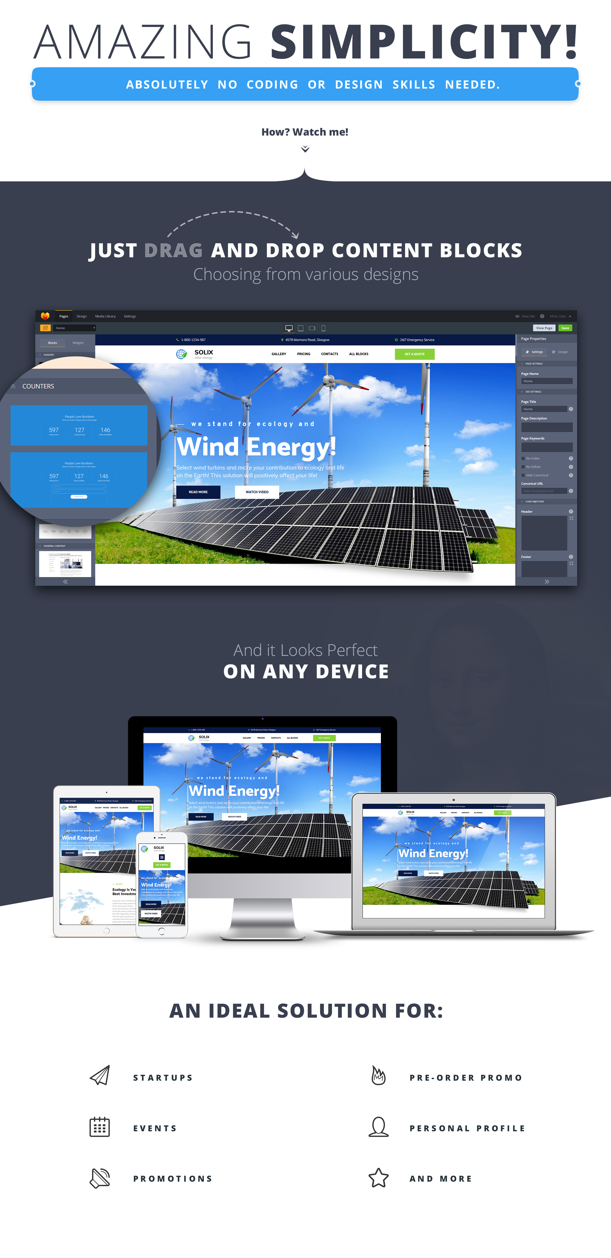 Solix - Solar Energy Landing Page Template
