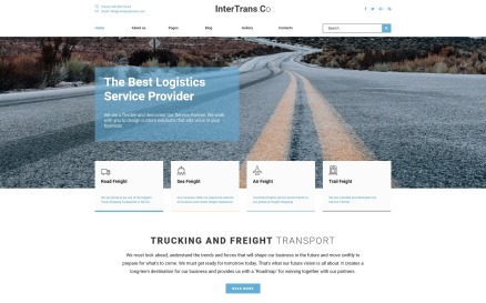 InterTrans.Co - Transportation Joomla Template