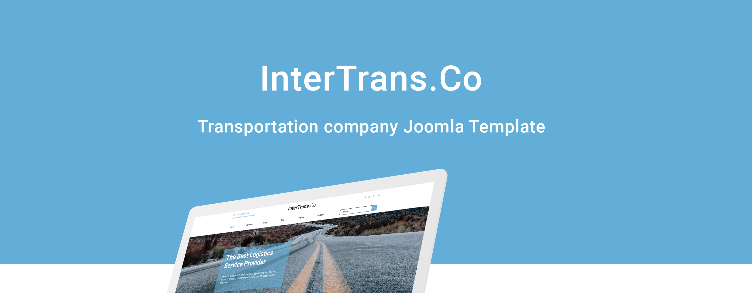 Website Design Template 74418 - joomla logistics transportationundefined