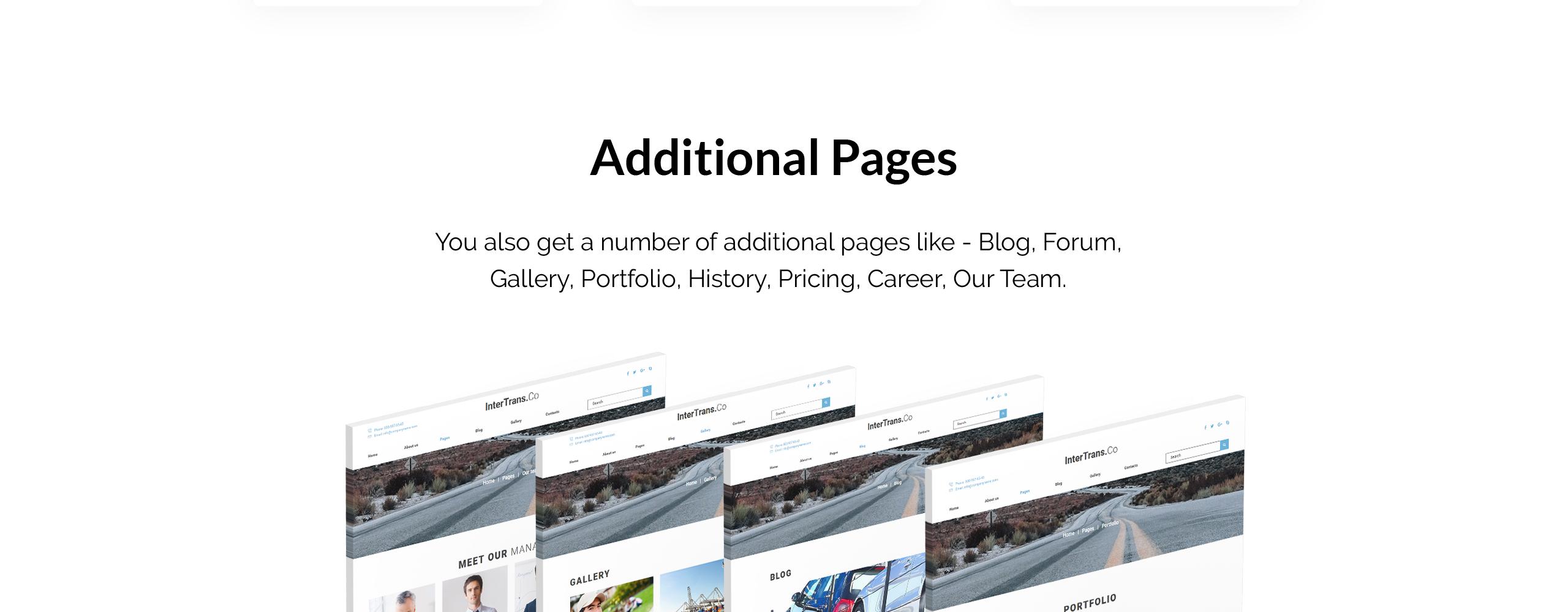 Website Design Template 74418 - company joomla logistics transportationundefined