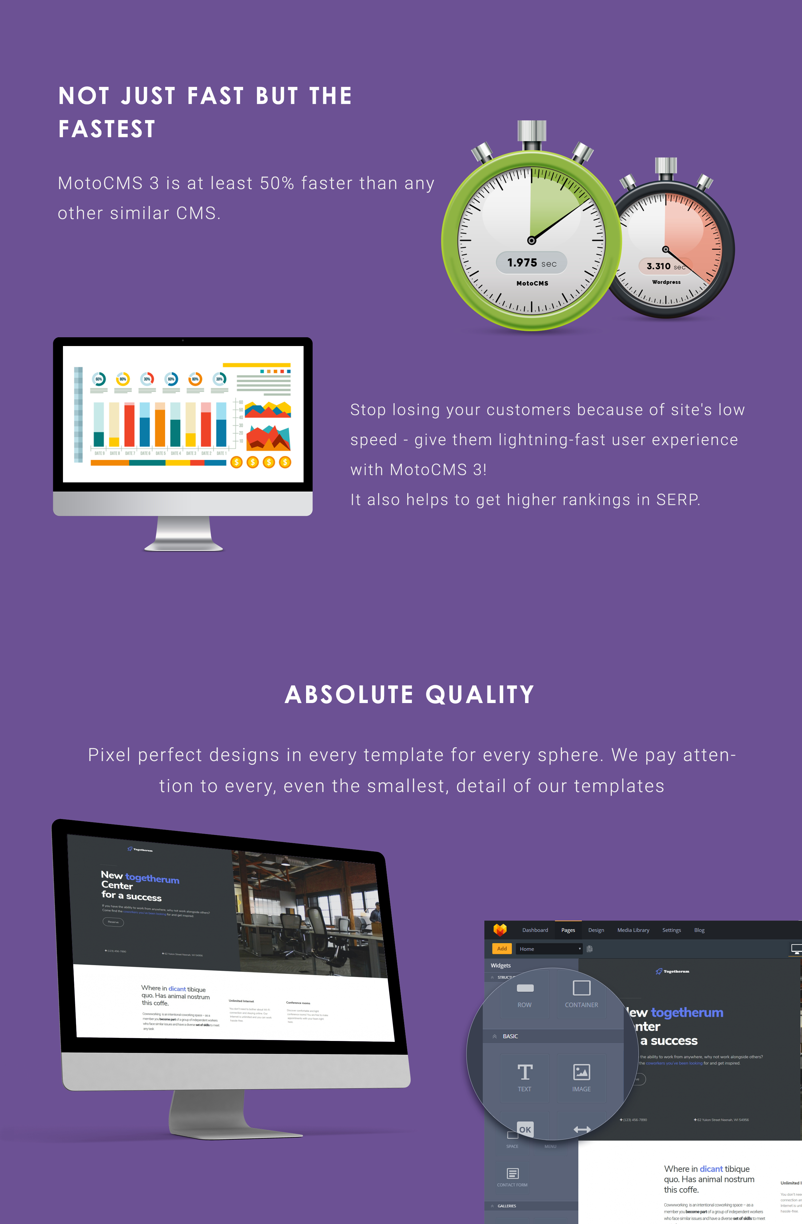 Togetherum - Coworking Centre Moto CMS 3 Template