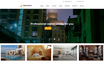 Immovables - Real Estate Ready-to-Use Website Template