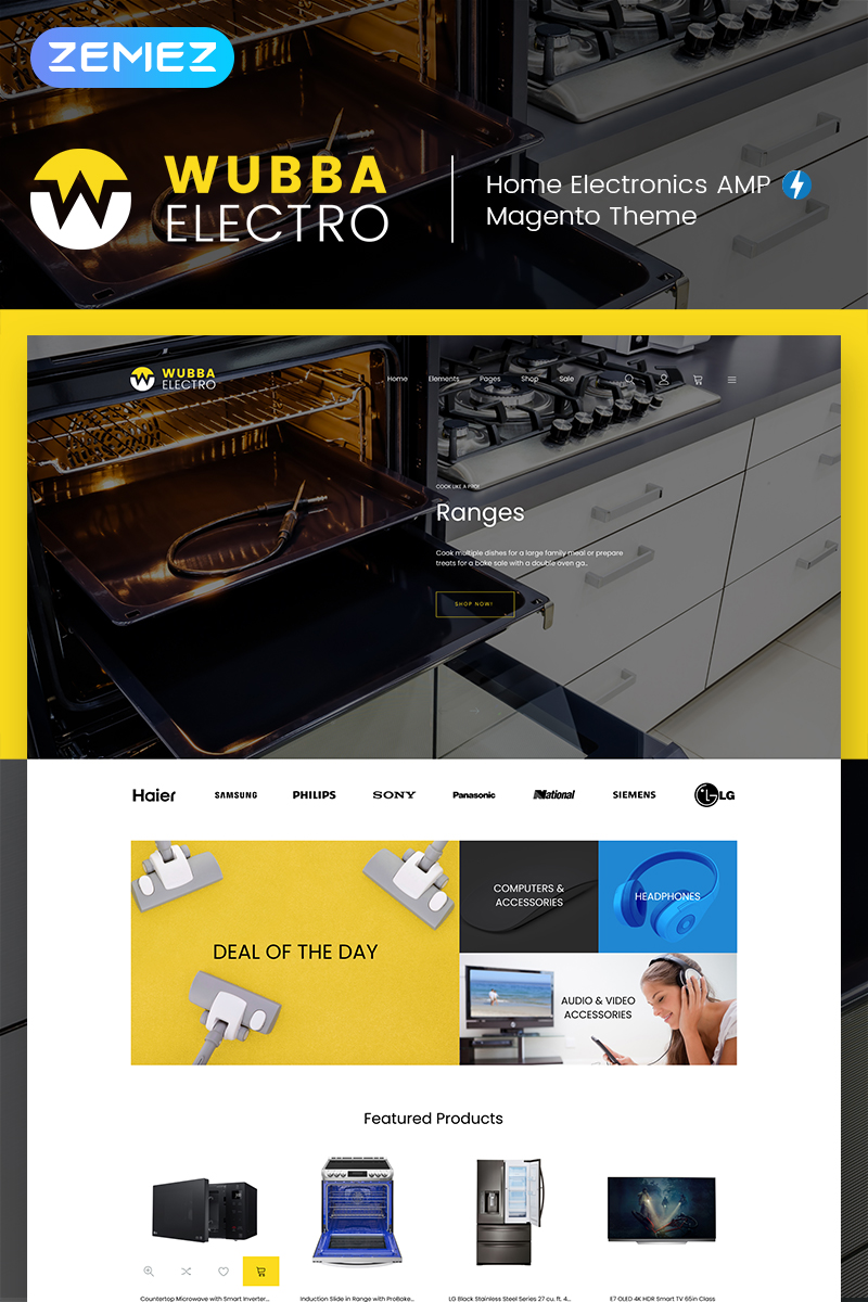 Website Design Template 74451 - electronicts tools kitchen appliances