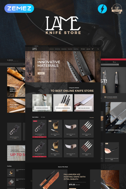 Website Design Template 74460 - one