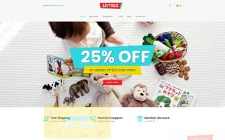 LitTOLS - Toys & Games Store Elementor WooCommerce Theme