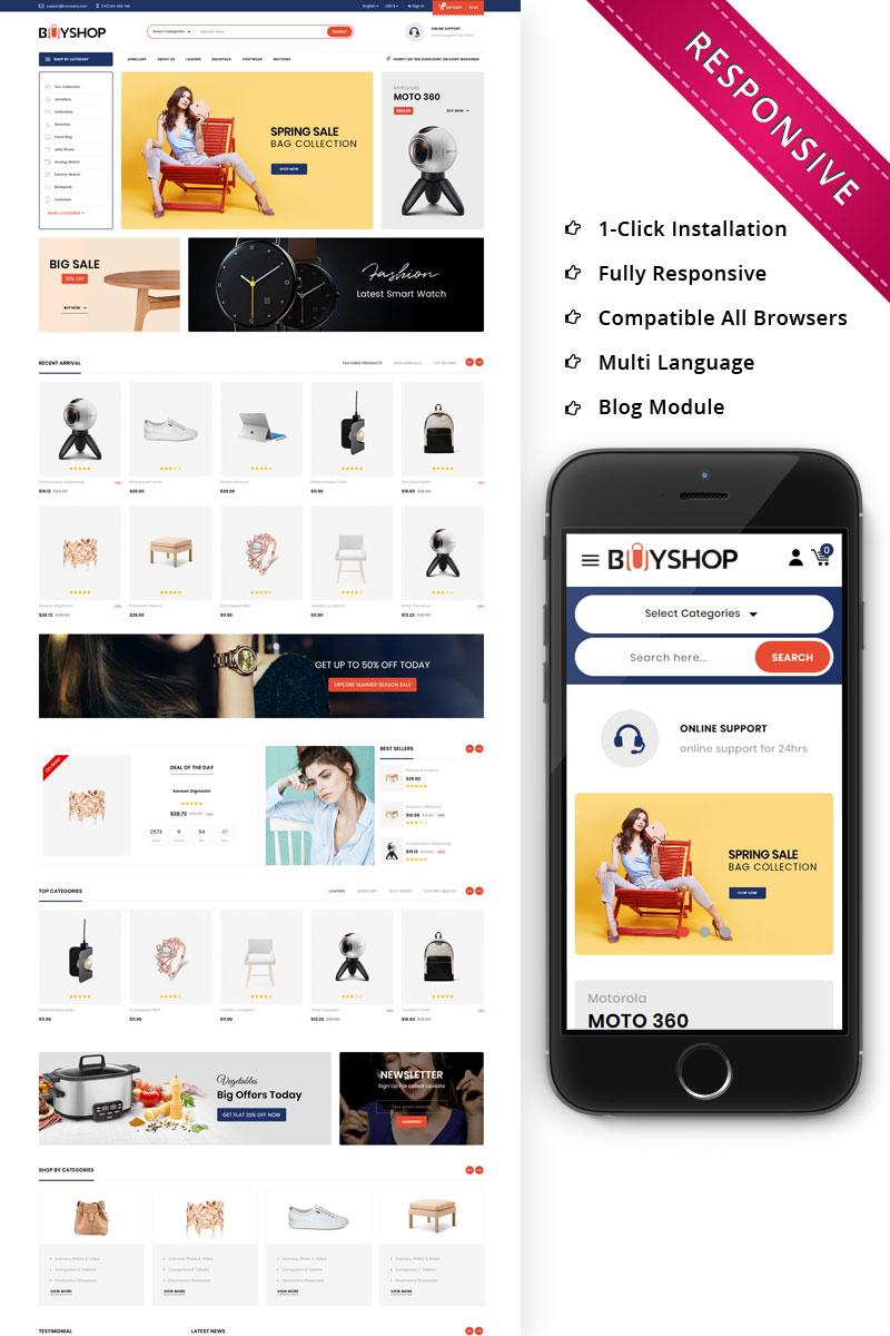 """BuyShop - Mega Store Responsive"" thème PrestaShop adaptatif #74425"