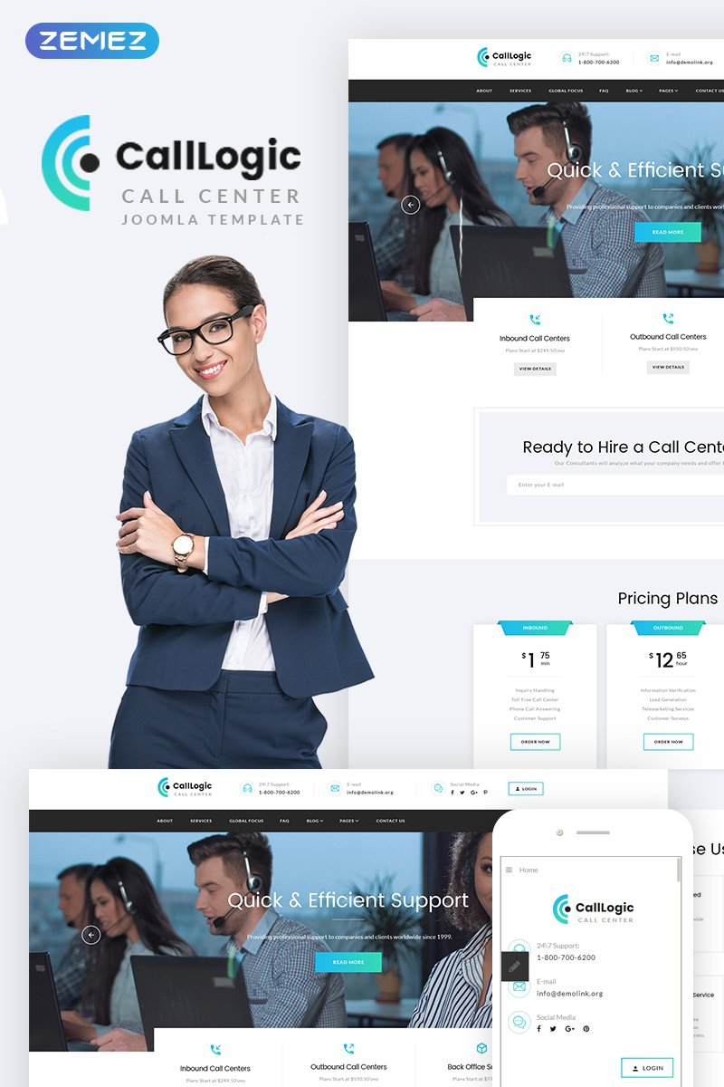 CallLogic - Ð¡all Ð¡enter Joomla Template