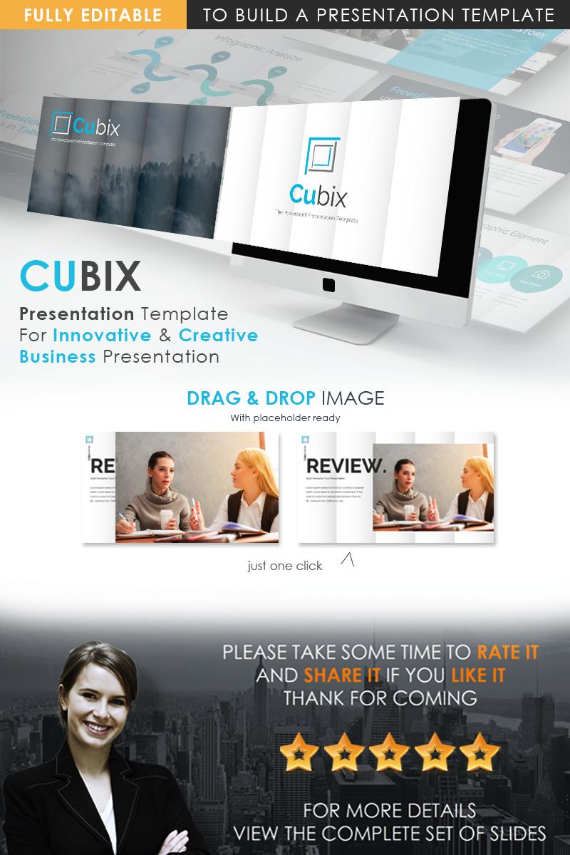 CUBIX Modern PowerPoint Template - screenshot