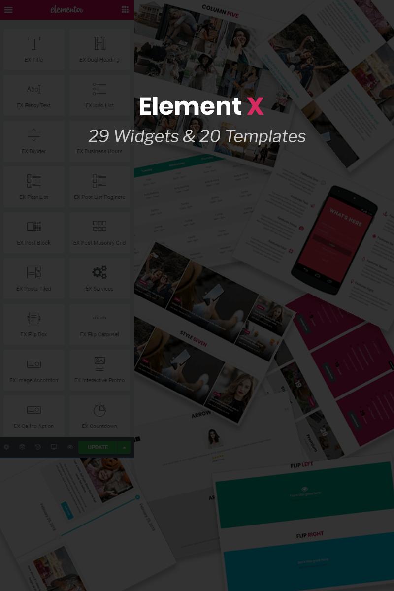 """Element X - Addon for Elementor Page Builder"" WordPress 插件 #74429"