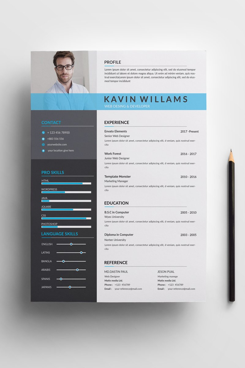 Kavin Clean Resume Template