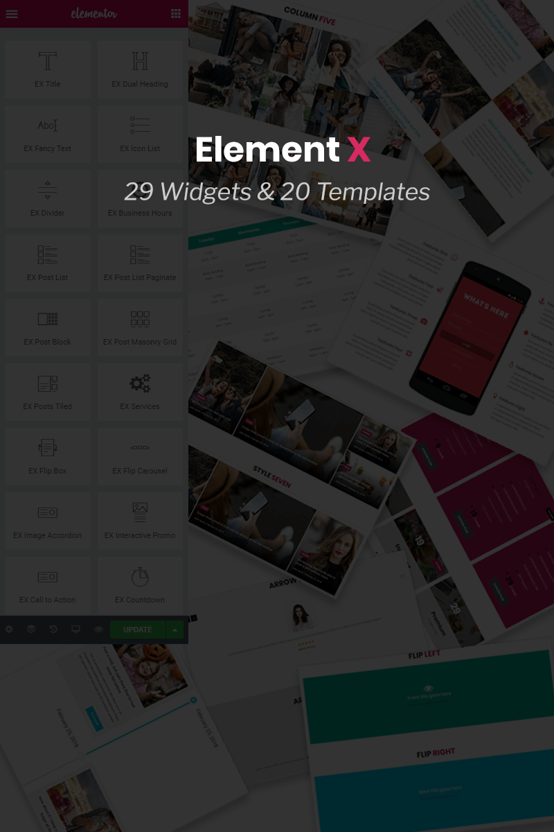 "Modello Plugin per WordPress #74429 ""Element X - Addon for Elementor Page Builder"""