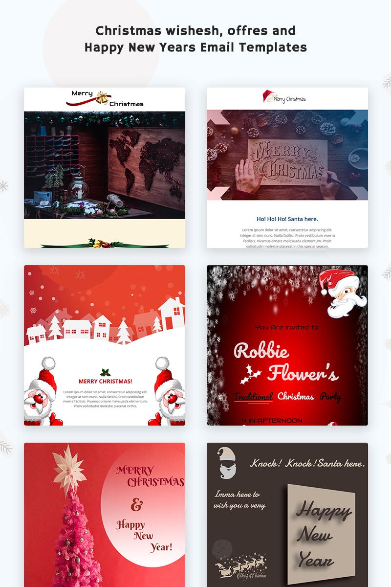 "Newsletter šablona ""Merry Xmas Responsive"" #74410"