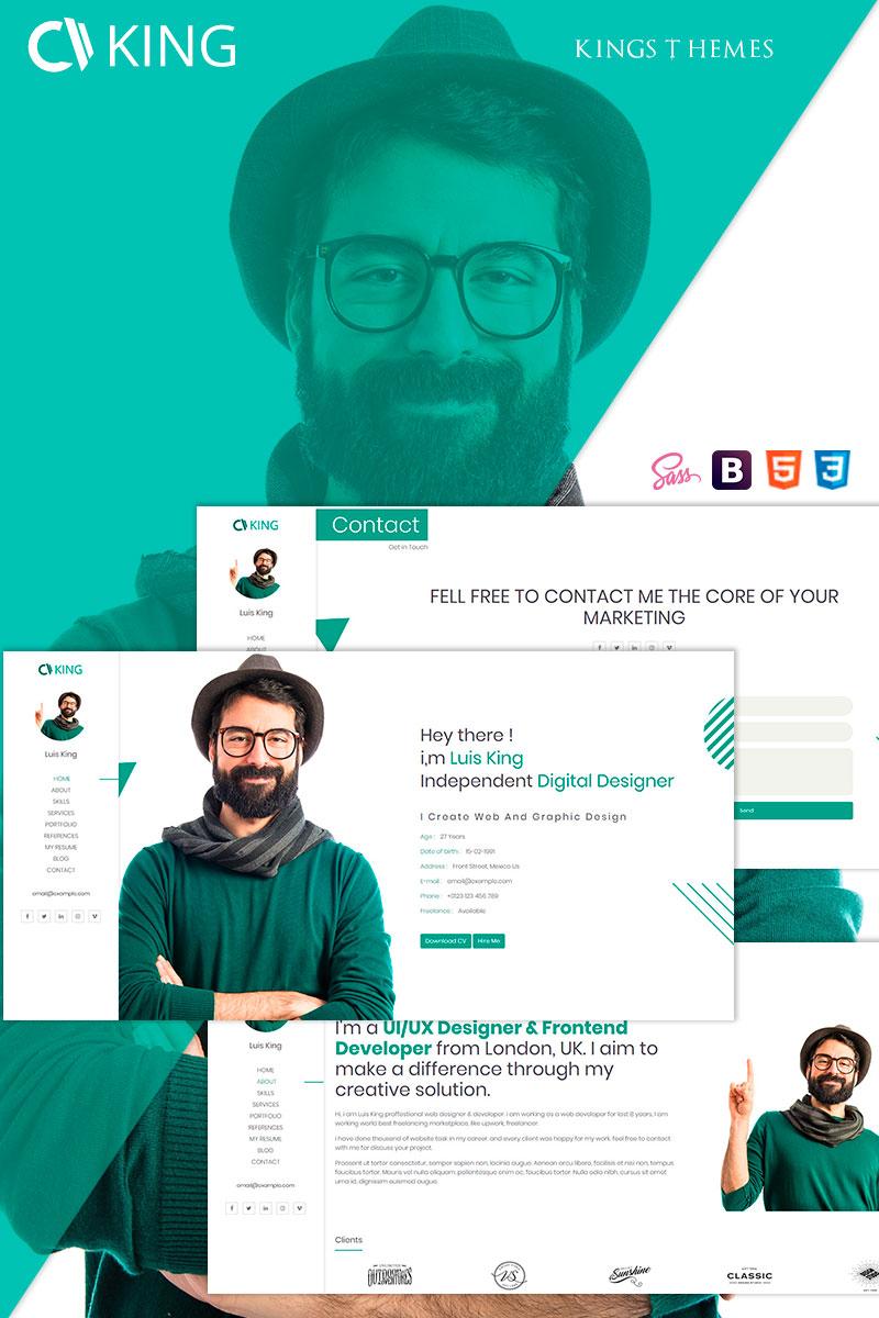Responsywny szablon Landing Page King - vCard / CV / Resume / Portfolio #74403