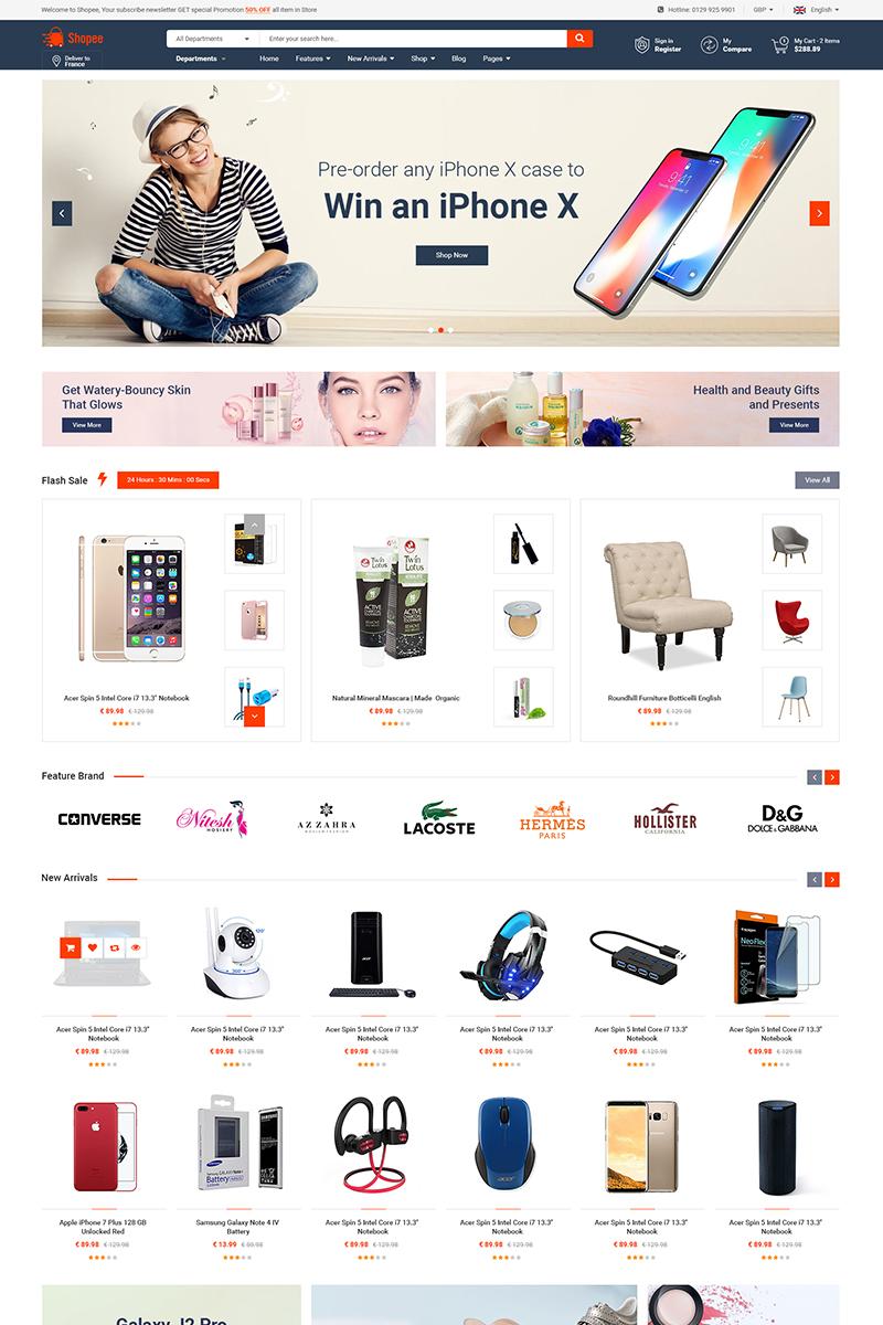 """Shopee - Premium Marketplace Responsive"" thème Magento adaptatif #74424"