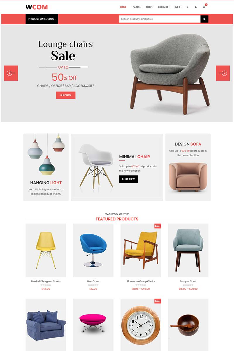 """Wcom - Modern Furniture"" thème WooCommerce adaptatif #74413"