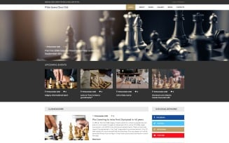 White Queen Chess Club - Chess Joomla Template