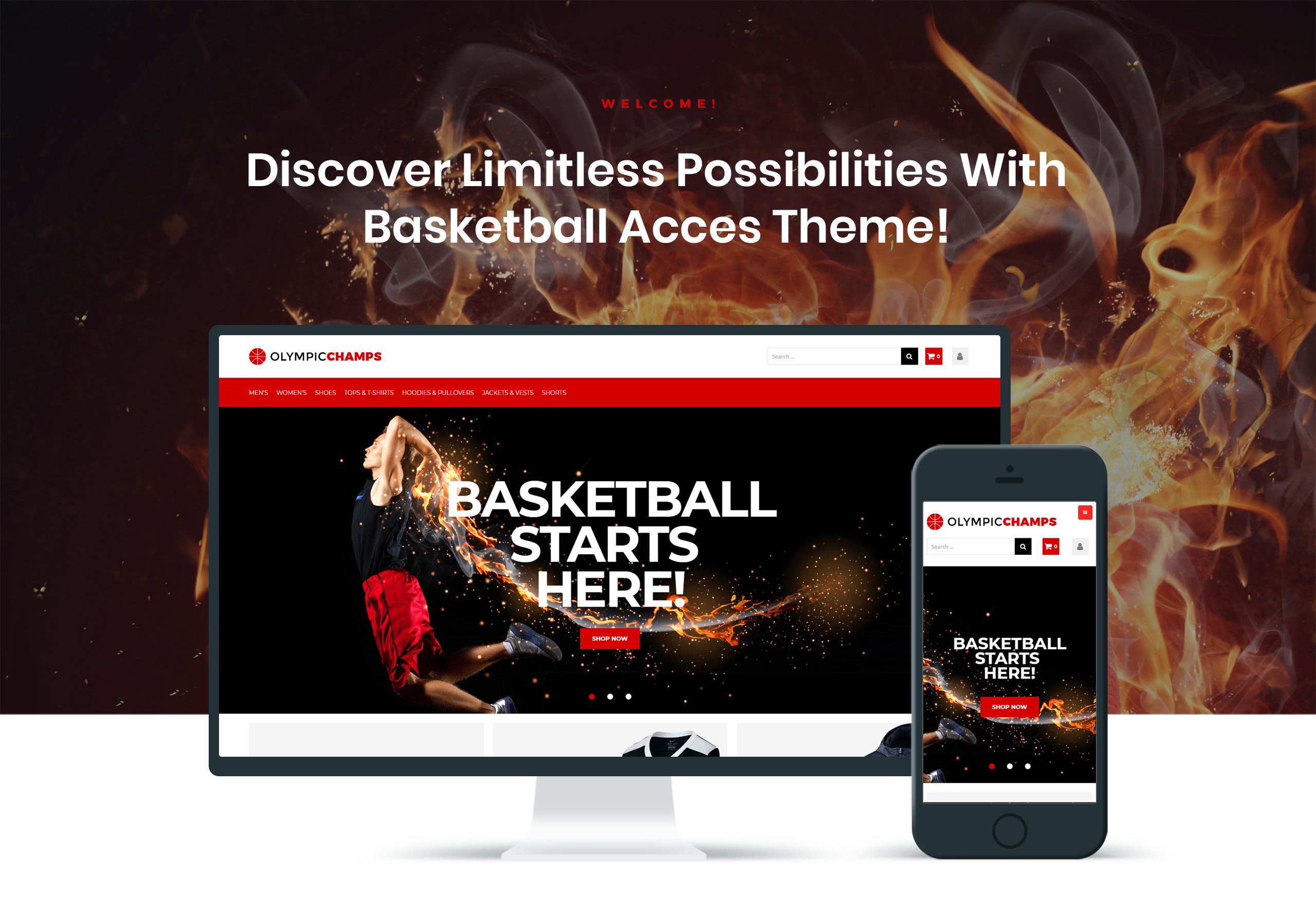 Website Design Template 74509 - store balls design pants shipping newsletter goods