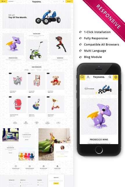 Website Design Template 74520 - toyshop megastore megashop html css responsive fashion petshop petstore