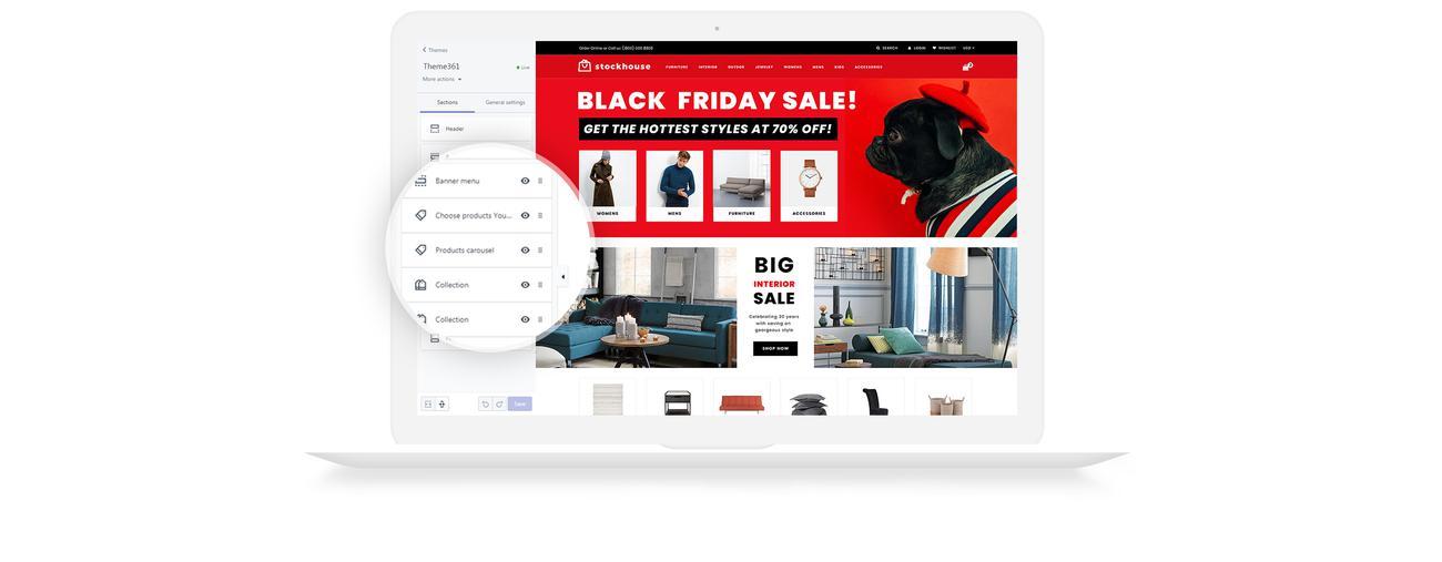 Website Design Template 74540 - sale shop shopify store wholesaleundefined