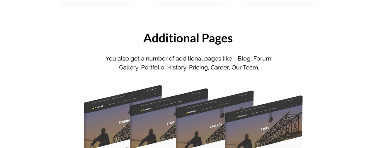 Website Design Template 74545 - business company construction industrial joomla