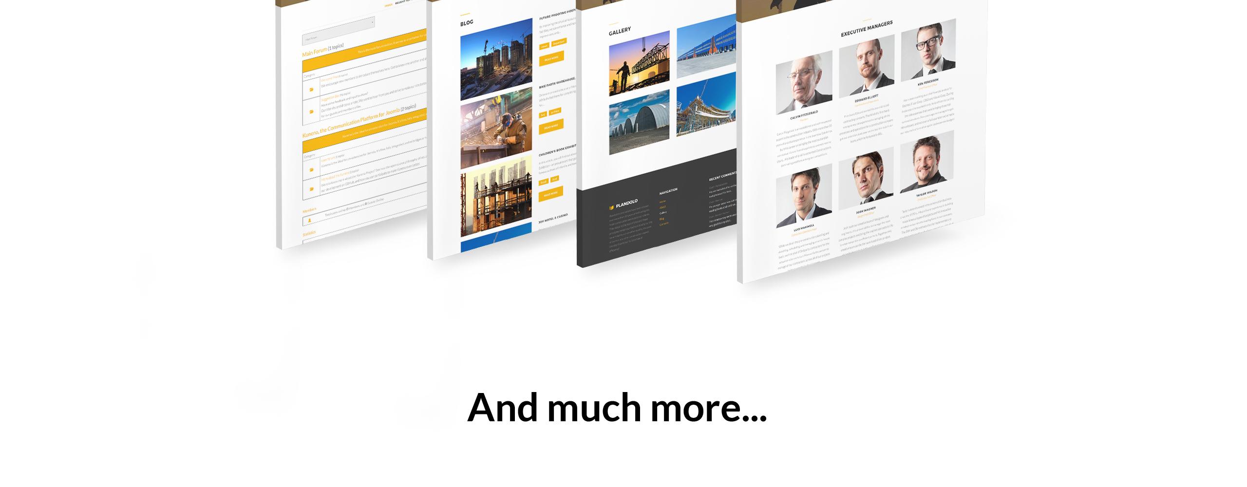 Website Design Template 74545 - company construction industrial joomla