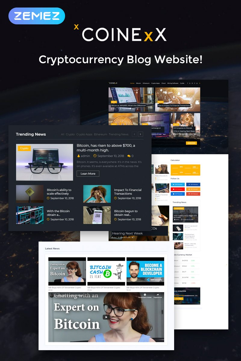 Website Design Template 74548 - token responsive premium marketing advisory cryptocurrency bitcoin services business finance cash gaming wallet sales invention trend payment monetary