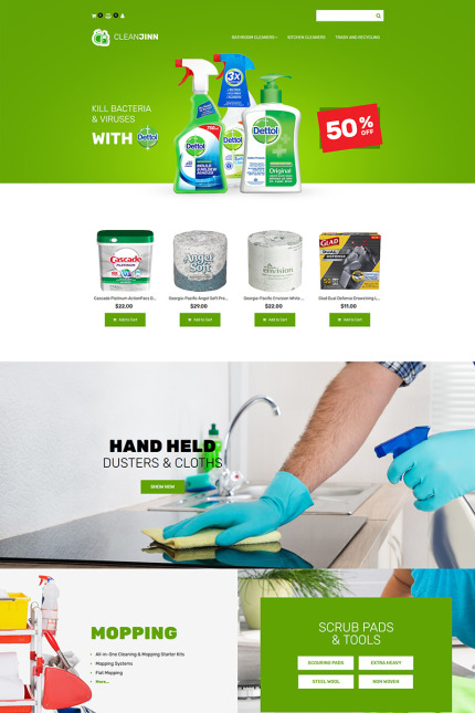 Website Design Template 74597 - maintenance cleaner washer