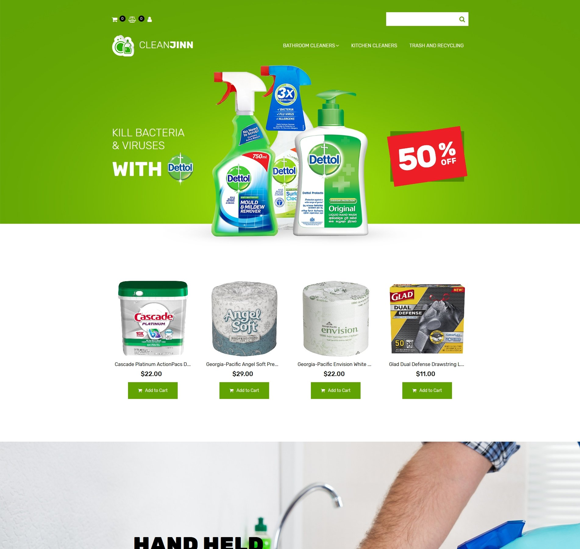 Website Design Template 74597 - washer