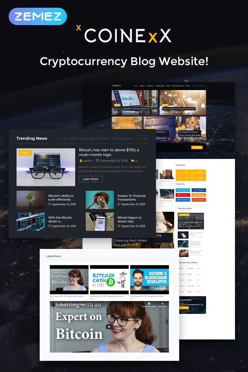 """Capitex - Bitcoin Blog Elementor"" 响应式WordPress模板 #74548 - 截图"
