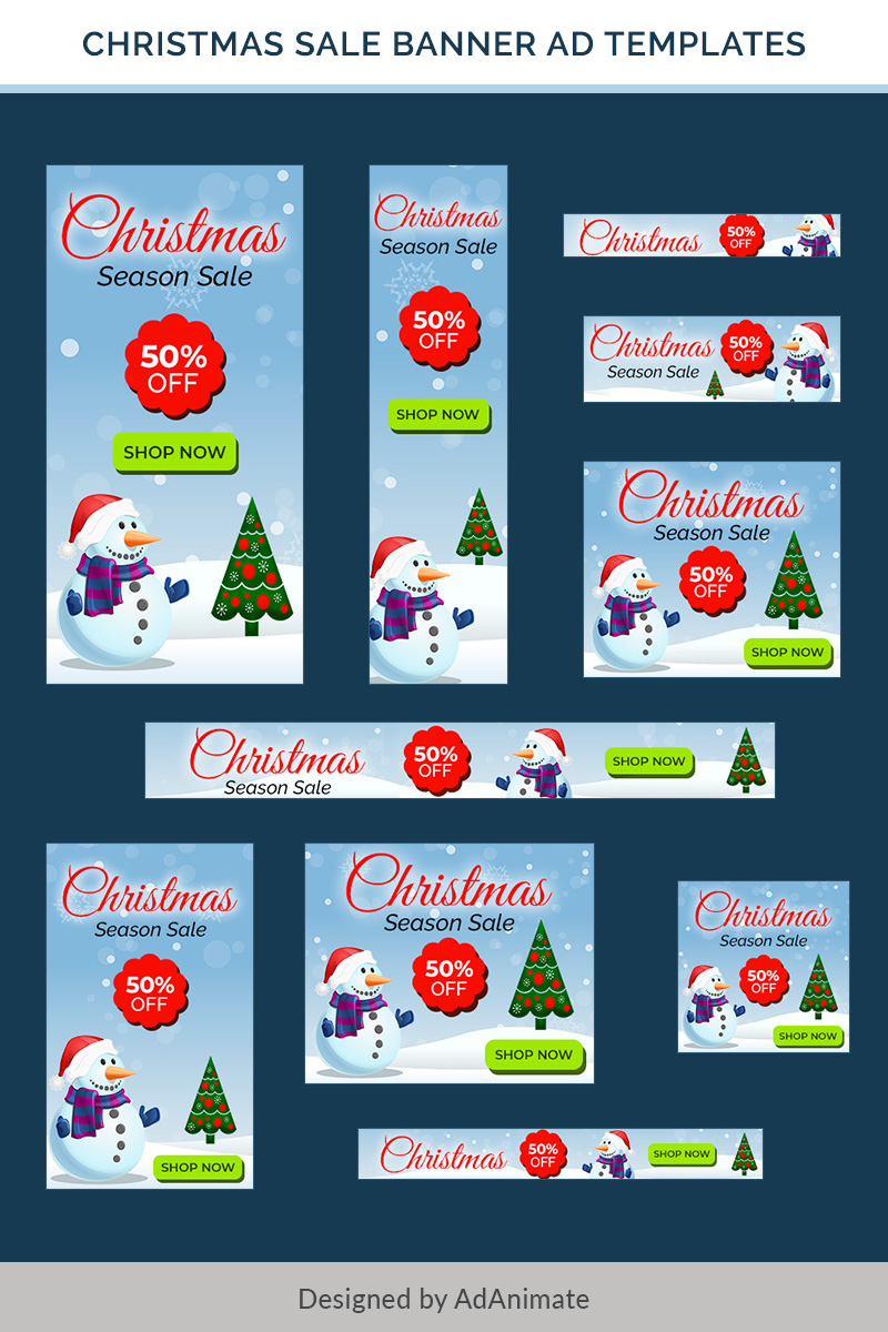 """Christmas Sale Banners - 10"" PSD Template №74589 - screenshot"