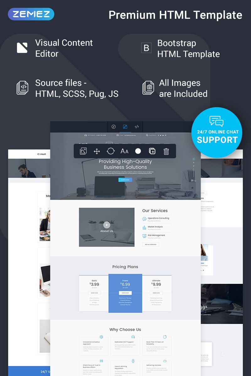 Consult - Corporate Ready-to-Use Website Template - screenshot