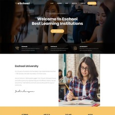Eschool Education University School Responsive College WordPress Theme
