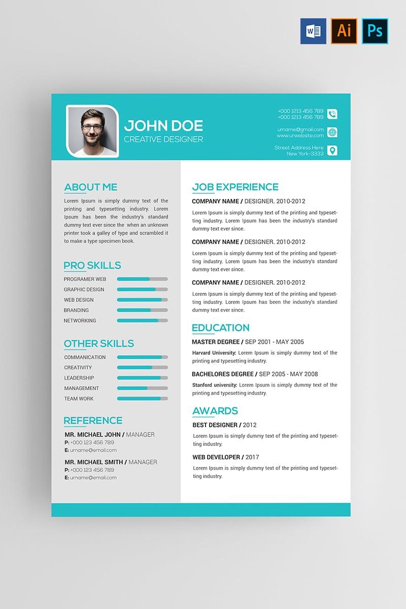 John Doe Resume Template 74535