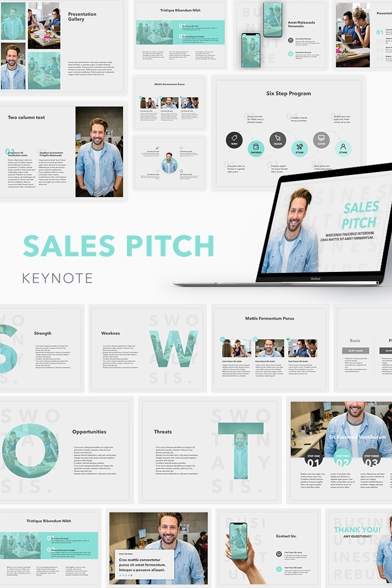sales pitch keynote template  74505