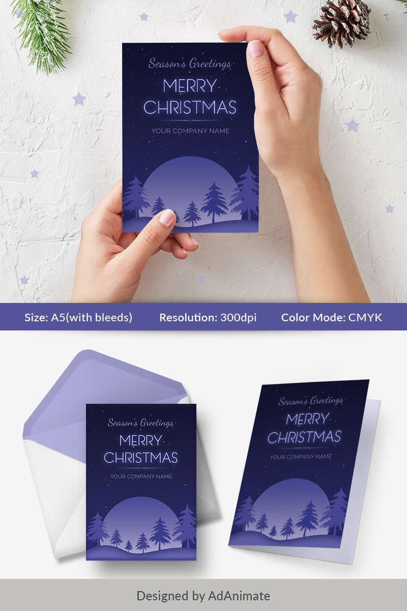 Season's Greeting Card - Christmas Special PSD Template