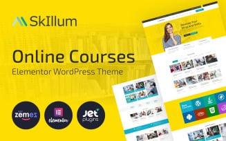 SkIllum - Online Courses WordPress Elementor Theme